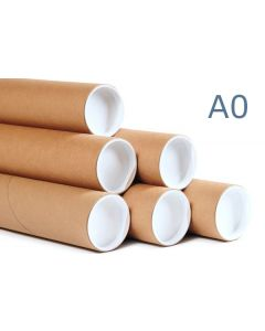 940mm Long - A0 Extra Thick Postal Tubes