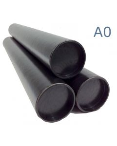 940mm Long - A0 Black Matt Postal Tubes